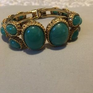 Bangle gold and turquoise stones